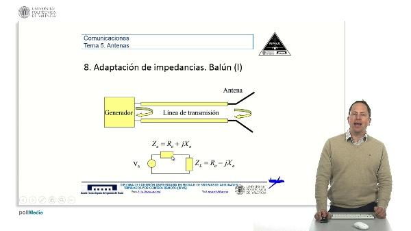 Master RPAS. Asignatura comunicaciones. Antenas, adaptación de impedancias, baluns