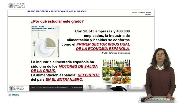 Presentación GRADO EN CIENCIA Y TECNOLOGÍA DE LOS ALIMENTOS