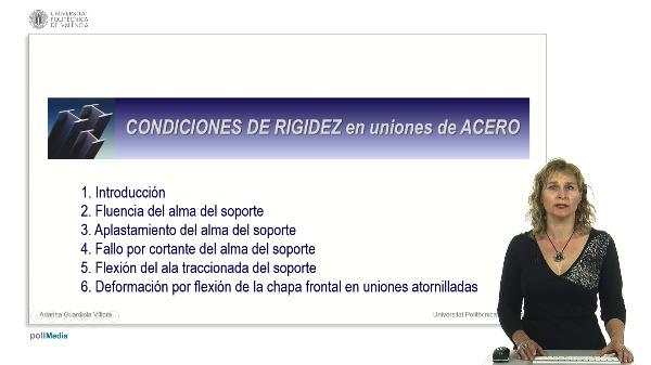 Condiciones de rigidez en uniones de acero