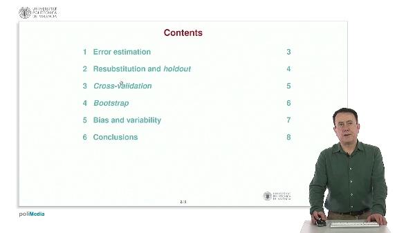 Error estimation in pattern recognition