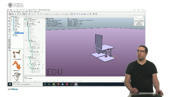 CoppeliaSim (V-REP): Creating bPED robot (Step 5).