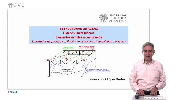 ESTRUCTURAS DE ACERO: Estados límite últimos. Elementos simples a compresión. Longitudes de pandeo por flexión en estructuras triangulares o celosías