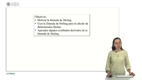 Cálculo de límites de sucesiones: Aplicación de la fórmula de Stirling