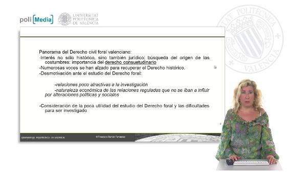 Interés del Derecho civil foral valenciano