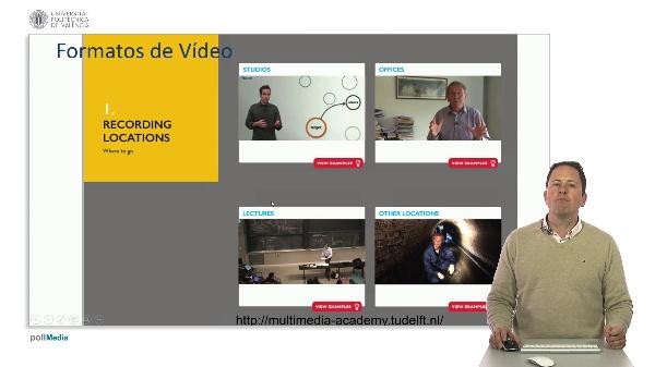 SPOC Gestión de MOOC. Formatos y herramientas de vídeo para MOOCs en la UPV