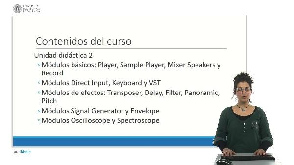 Índice de contenidos del curso. Iniciación al sistema Soundcool