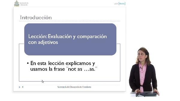 Evaluación y comparación con adjetivos II