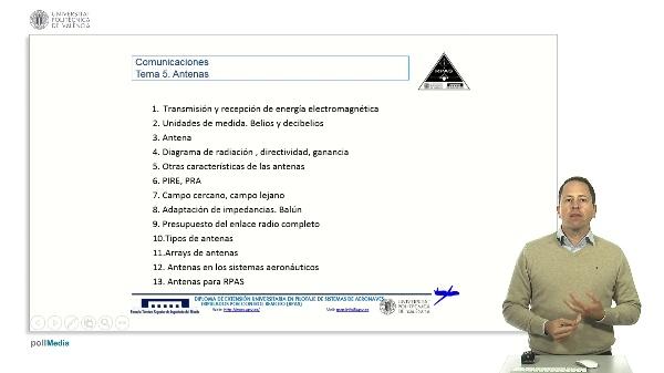 Master RPAS. Asignatura comunicaciones. Índice tema 5 antenas