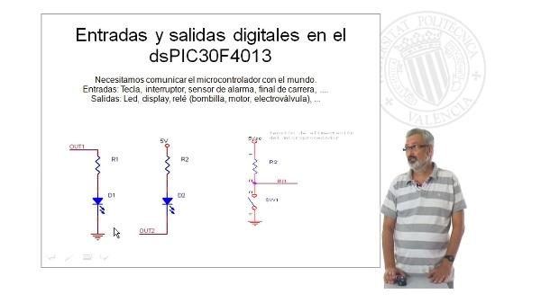 Entradas y salidas digitales en el dsPIC30F4013