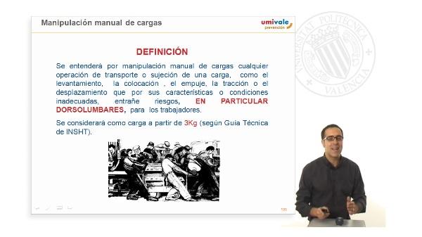 Manipulación manual de cargas y Vigilancia de la salud.