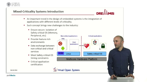 ARMv8 Secure Monitor Firmware for Mixed-Criticality systems