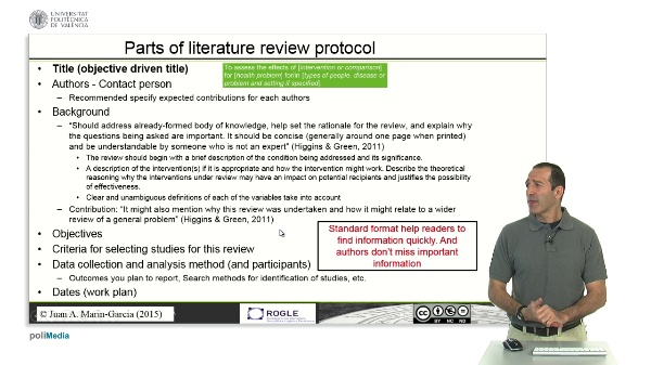 Write a process report- protocol SLR (ADVANCED)