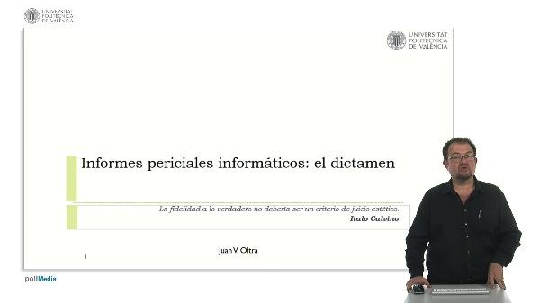Informes periciales informaticos: el dictamen