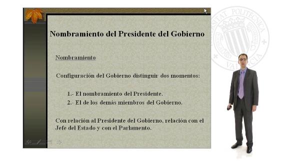 Nombramiento y Cese del Presidente del Gobierno