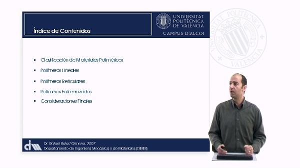 Clasificación de Materiales Poliméricos
