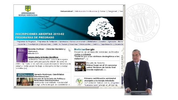 Prueba de polimedia por la Universidad Sergio Arboleda