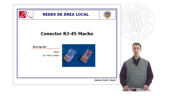 Crimpado de Cables de Par Trenzado: RJ-45 Macho