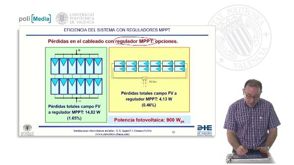 Electrificación rural a 12V. Estudio de la eficiencia en sistemas con reguladores MPPT