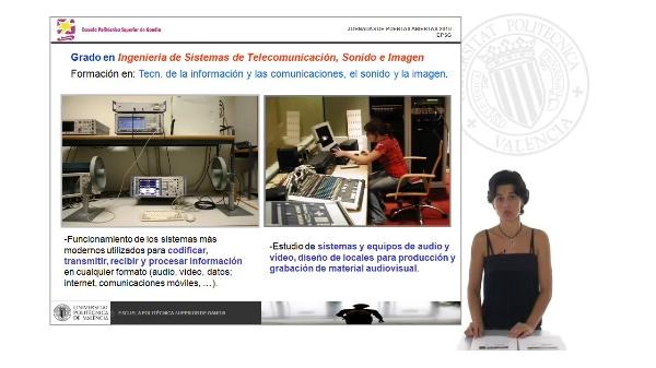 Grado en Ingeniería de Sistemas de Telecomunicación, Sonido e Imagen