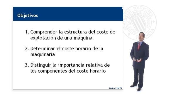 COSTES DE LA MAQUINARIA EMPLEADA EN LA CONSTRUCCIÓN