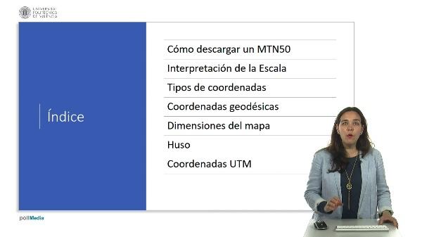Las coordenadas del MTN50