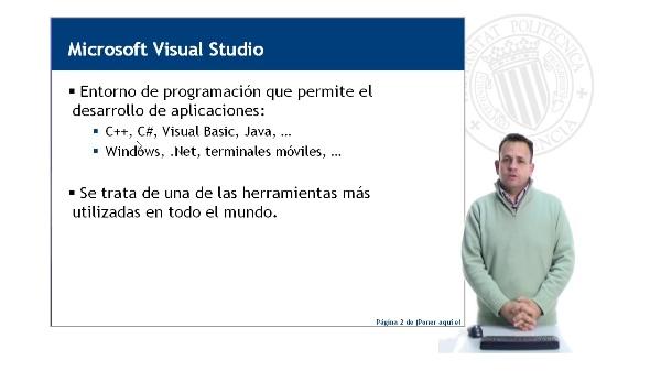 En entorno de programación Microsoft Visual Studio