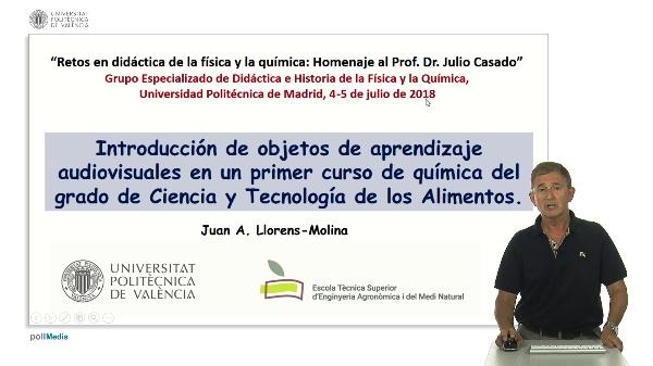 Introducción de objetos de aprendizaje audiovisuales en un primer curso de química del grado de Ciencia y Tecnología de los Alimentos