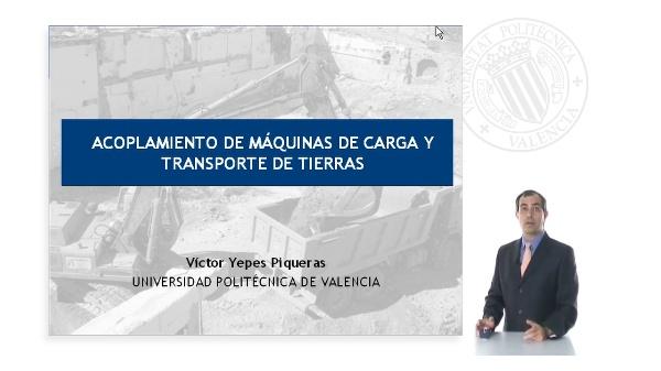 ACOPLAMIENTO DE MÁQUINAS DE CARGA Y TRANSPORTE DE TIERRAS