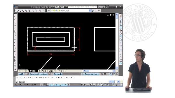 Dibujo de desfases con Autocad