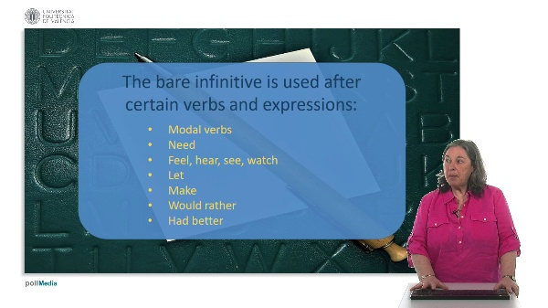 Use of English. Bare infinitive