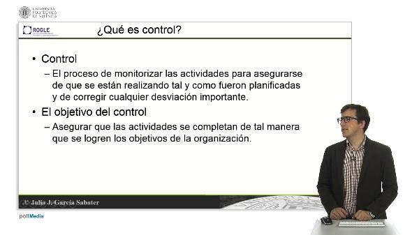 El control en la organización de empresas