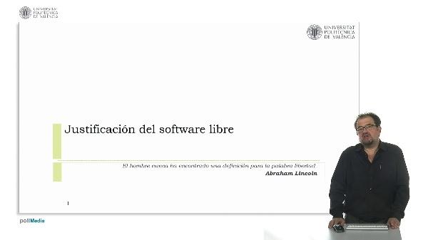 Justificación del software libre