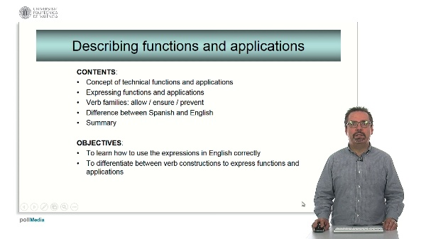 Technical English - Describing functions and applications