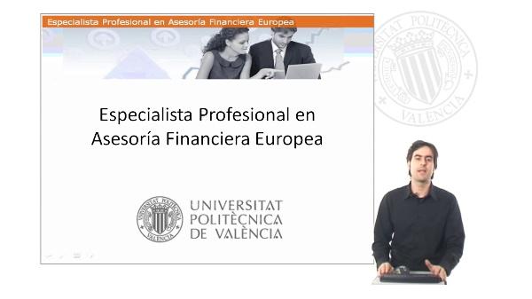 Presentación del Especialista Profesional en Asesoría Financiera Europea