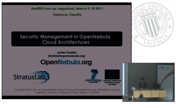 Security Management in OpenNebula Cloud Architectures