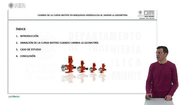 Cambio de la curva motriz en máquinas hidráulicas al variar la geometría