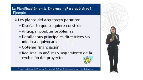 ¿Para que sirve planificar el proyecto empresarial?
