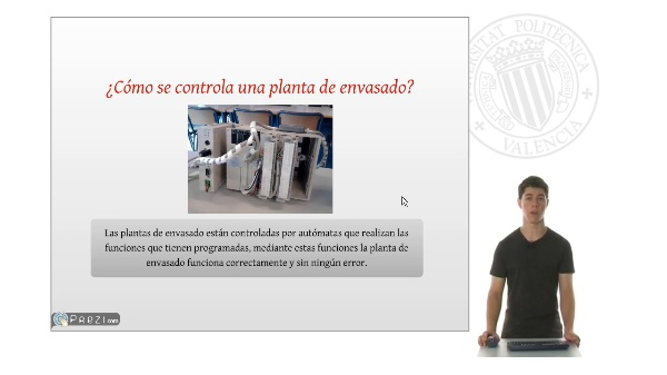 Sistema de control de una planta de envasado
