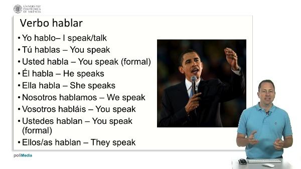 Verbo 'hablar'