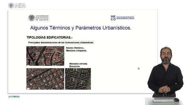 Algunos Términos y Parámetros Urbanísticos.