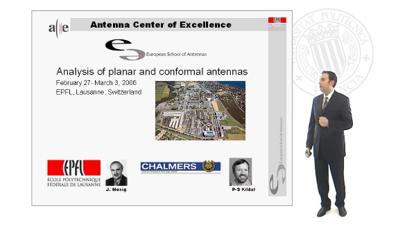 Analysis of Planar and Conformal Antennas Course