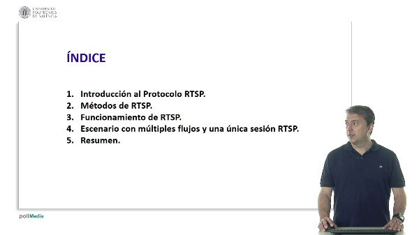 Intercambio de mensajes RTSP en escenario con múltiples flujos y una única sesión