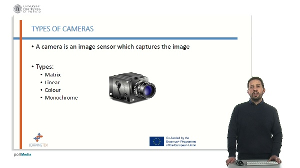 Types of cameras. Matrix, linear, color, monochrome.