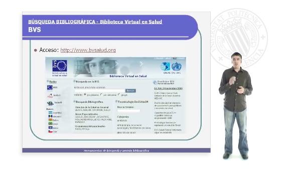 La Biblioteca Virtual en Salud (BVS)