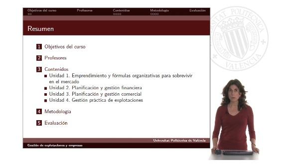 Presentación Curso Gestión de explotaciones y empresas