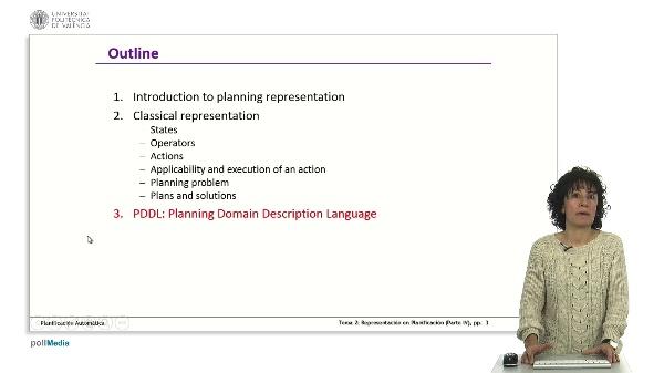 Representación, planificación. Parte IV-1