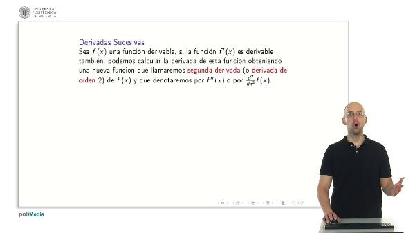 Derivadas sucesivas y polinomio de Taylor 1