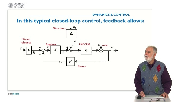 Propierties of Controlled Systems. Question 3. Use of feedback