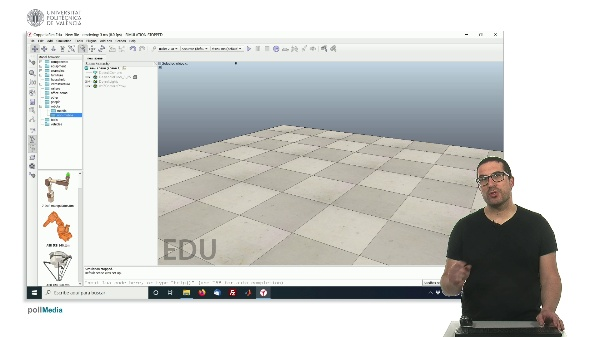 CoppeliaSim (V-REP): Creating bPED robot (Step 0).