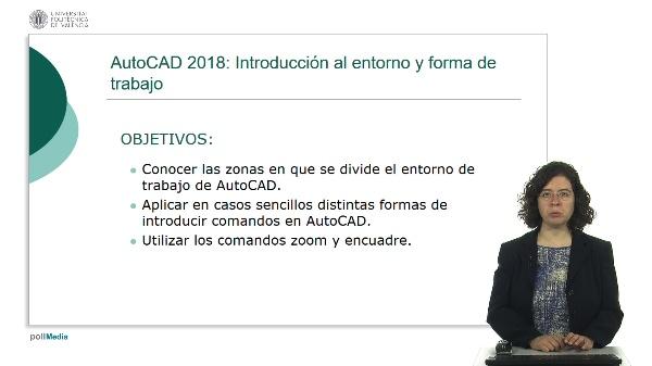 Autocad 2018: introducción al entorno y forma de trabajo